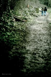 Lovers walking through West Malling, Manor Country Park